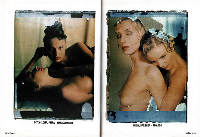 Stern page 5 Stern, Werner Pawlok, Photography Paintings, Polaroid 50x60, Polaroid Photography,