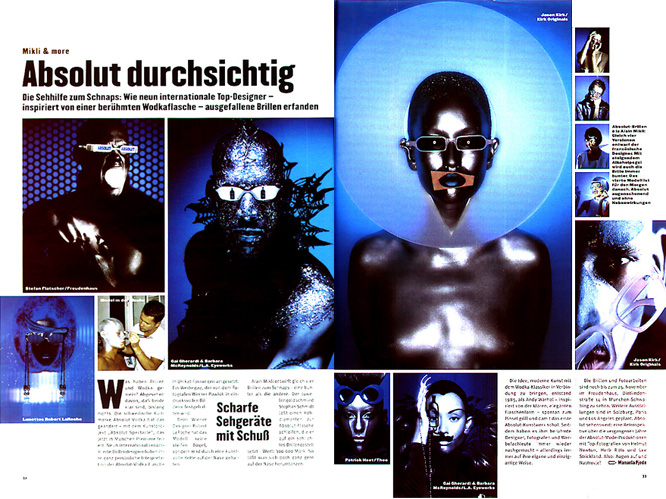 MAX page 1 Max Magazin, Absolut Vodka, Werner Pawlok, Photography,