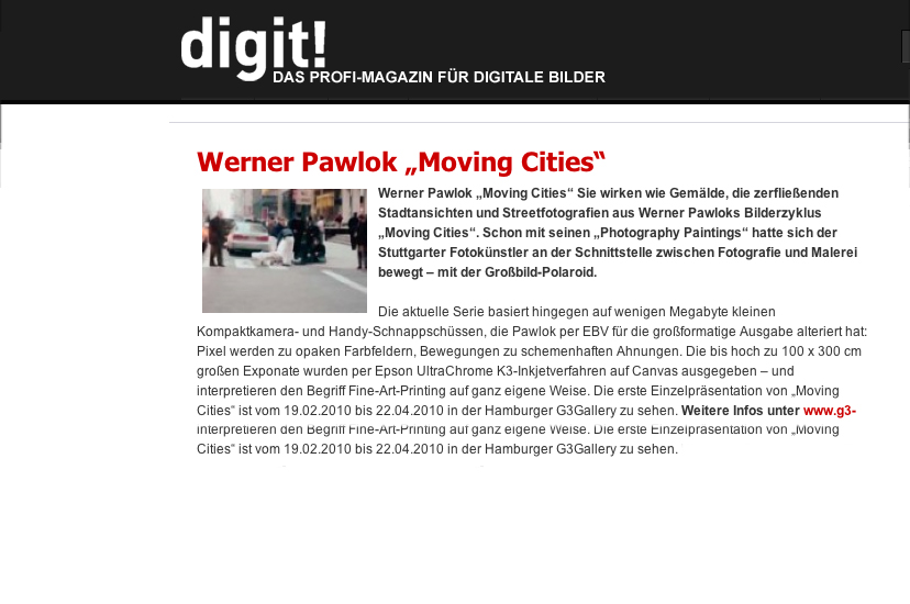 digit! digit!, moving cities, Werner Pawlok, Photography,