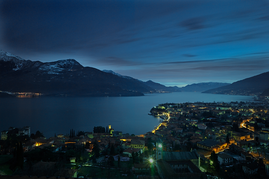 Lake Como 5 Lake Como, Comer See, photo by Werner Pawlok, Italy, Italien, lake overview, by night