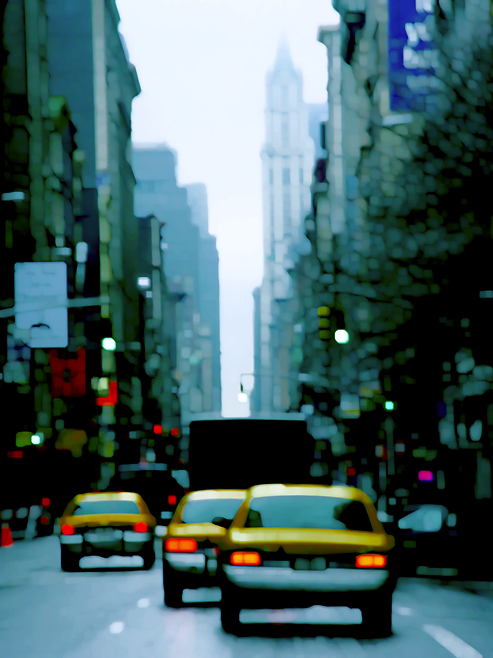 Cabs II moving cities, photo by werner pawlok, fine art photography, new york city, nyc, urbane stadtansichten, stadtszenen, cab II, new york cabdriving