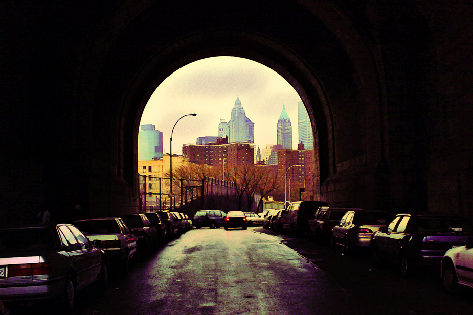 Tunnel II moving cities, photo by werner pawlok, fine art photography, new york city, nyc, urbane stadtansichten, stadtszenen, cab driving nyc, tunnel II, strassensicht nyc, street scene nyc, cars nyc