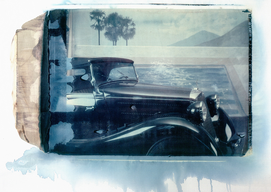 170 V Mercedes Benz, Oldtimer, photo by werner pawlok, polaroid, transfer, master pieces