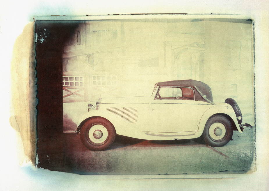 200 Cabriolet A Mercedes Benz, Oldtimer, photo by werner pawlok, polaroid, transfer, master pieces