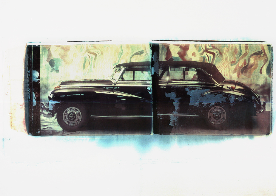 Merceds Benz Typ 300 II Mercedes Benz, Oldtimer, photo by werner pawlok, polaroid, transfer, master pieces