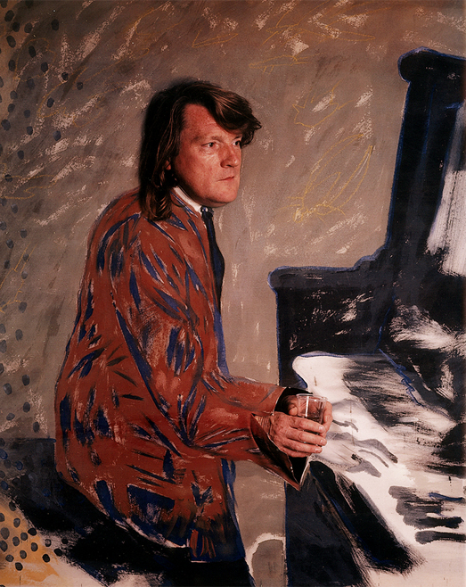Brian Auger Brian Auger, Stars and Paints, Polaroid, photo by Werner Pawlok, jazz, rock, organist, Hammond Orgel, Fender Rhodes, steampacket, trinity, oblivion express, encore