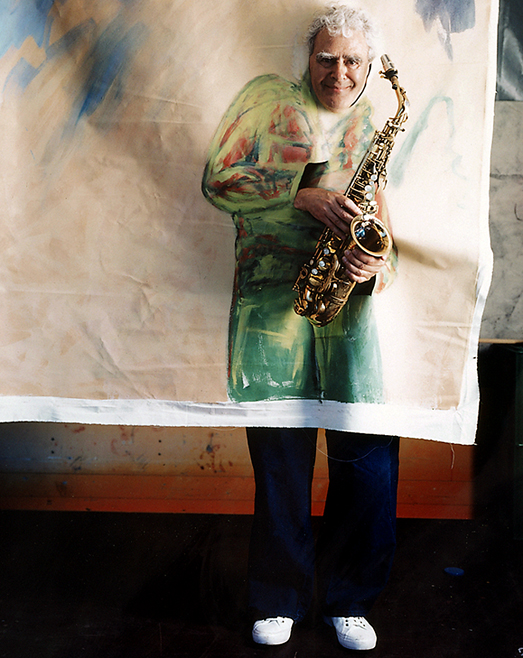 Charlie Mariano Charlie Mariano,Zeltmusikfestival Freiburg, Alex Heisler, Polaroid, Stars and Paints, photo by Werner Pawlok, Jazz, saxophonist, musician, worldmusic, United Jazz and Rock Ensemble, Shelly Manne and his men, WDR Jazzpreis, RUTH deutscher Weltmusikpreis