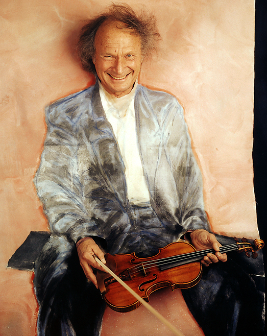 Ivry Gitlis Ivry Gitlis, photo by Werner Pawlok, Polaroid, Stars and Paints, violinist, UNESCO Goodwill Ambassador